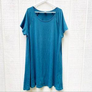 Old Navy teal t shirt dress size XXL